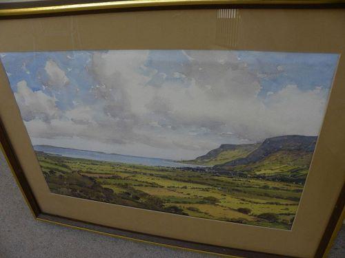 SAM MCLARNON (1923-2013) Irish coast landscape watercolor painting