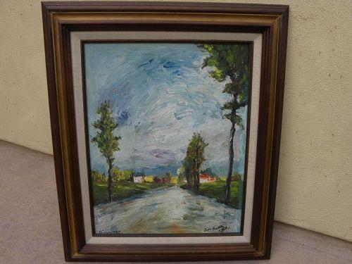 ROGER ETIENNE (1922-2011) impressionist landscape oil painting