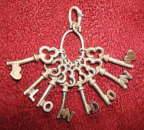 FANTASTIC Skeleton Keys Charm / Pendant LONDON