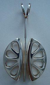 Sterling Silver Mod Pendant  Artist Hallmarked Finland