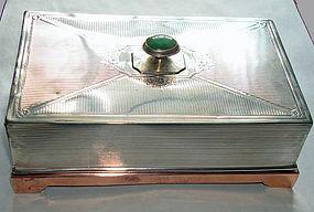 Native American Sterling Copper Box  Hallmarked  +