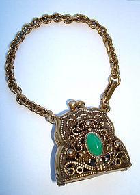 Vintage Large Purse Handbag Bracelet Pendant Opens