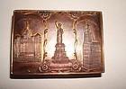 Antique New York City Souvenir Box Landmarks Copper Brass Early1900s