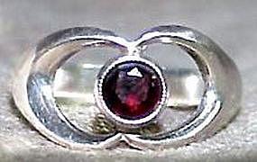 Erik Granit Sterling Silver Garnet Ring Finland