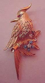 Lovely Marcel Boucher Bird Brooch Signed Numbered