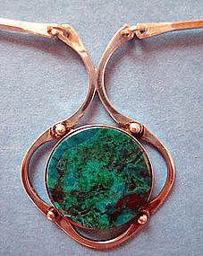 Vintage Sterling Silver Link Necklace Israel