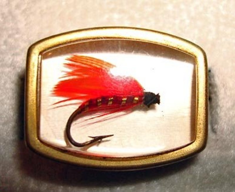 Vintage Genuine Fishing Lure Cuff Links c. 1950's