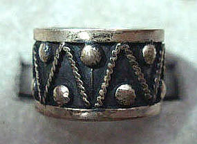 Taxco Mexico Sterling Silver Ring w/ Maker's Mark