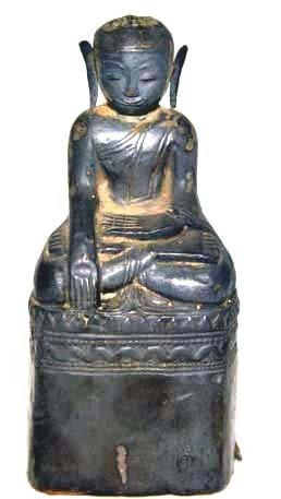 Silver Repousse Burmese Buddha -  18th Century