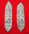 Two Rare Tibetan Bone Dancing Dakini Figures