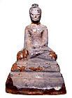 Silver Overlaid Burmese Buddha (#1) - 17th Century
