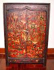 Rare Tibetan Painted Cabinet - 19th Century