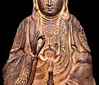 Rare Large Chinese Quanyin Bronze Statue - Ming Xuande 1426 - 1435