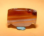 Ancient Natural Banded Agate Bead Pendant -100BC #6