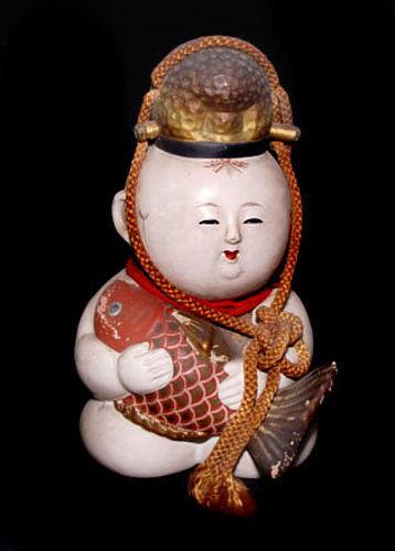 Japanese Boy's Festival Kintaro Doll-Taisho Period