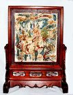 Chinese Scholar's Screen w/ Kylin and Rider - Qing Early19 Century