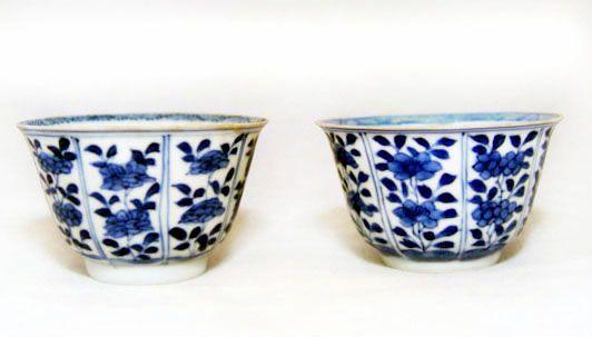 Chinese Vung Tau Blue & White Cups - Kangxi 1690 AD