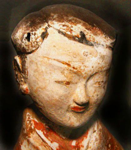 Large Chinese Han Court Lady  206 BC - 220 AD