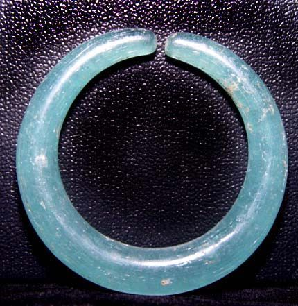Ancient Blue Glass Earring - Southeast Asia  100BC