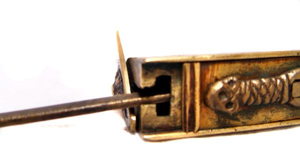 Chinese Brass Mystery Lock -Qing Dynasty 19th Century
