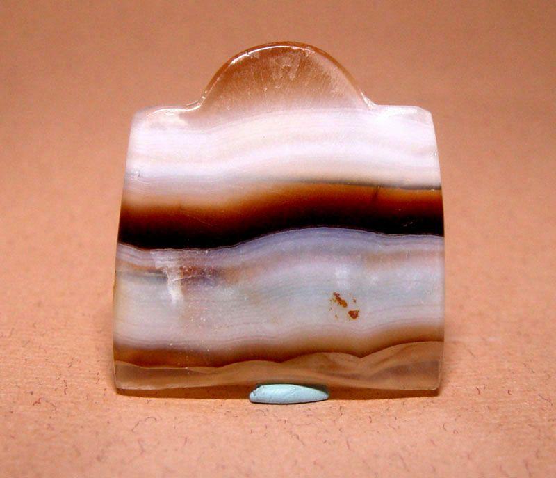 Ancient Natural Banded Agate Bead Pendant - 100 BC #2