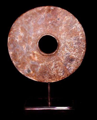 Chinese Neolithic Jade Bi Disc - 3000 BC