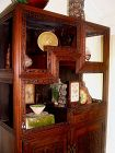 Chinese Blackwood Hungmu Cabinet with Original Stand -Early 1850