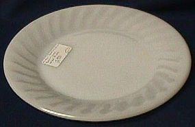 Fire King Swirl White Dinner Plate