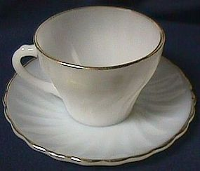 Fire King Golden Shell Cup and Saucer