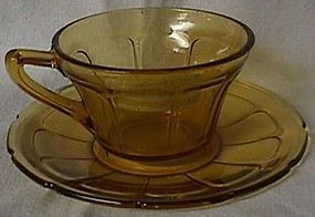 Victory Amber Cup and Saucer