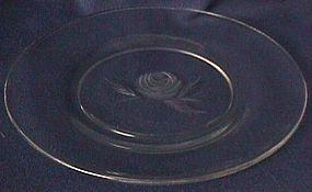 Fostoria Rose Crystal Plate