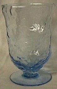 Morgantown Crinkle Peacock Blue Footed Tumbler