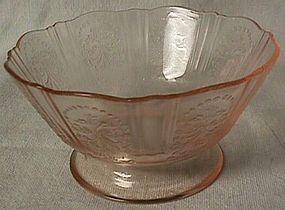 "American Sweetheart Pink Sherbet 3.75"" Mac Beth Evans Glass Company"