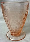 Cherry Blossom Pink Round Foot Water Tumbler