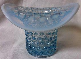 Hobnail Blue Opalescent Hat Duncan Miller Glass