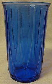 """Newport Cobalt Tumbler 4.5"""" 9 oz Hazel Atlas Glass Company"""