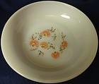 "Fleurette Soup Plate 6 5/8"" Fire King Anchor Hocking Glass Company"