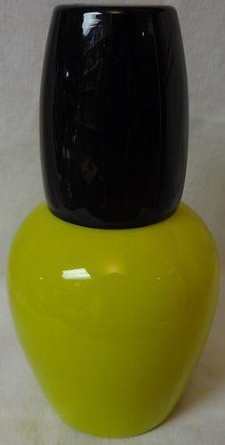 "Tumble Up Yellow and Black 7"" Morgantown Glass Company"