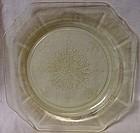 "Princess Yellow Salad Plate 8"" Hocking Glass Company"