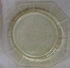 "Princess Yellow Dinner Plate 9"" Hocking Glass Company"