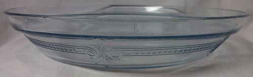 "Sapphire Blue Juice Saver Pie Plate 10.25"" Fire King Anchor Hocking"