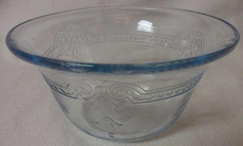 "Sapphire Blue Custard Cup Flared Rim 3.75"" 5 oz Fire King"