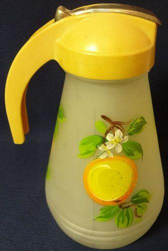 "Orange Batter Jug 9.25"" Hazel Atlas Glass Company"