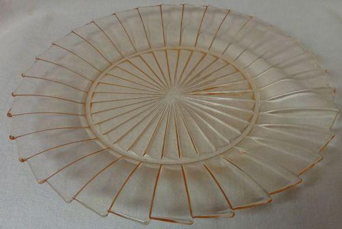 """Sierra Pink Dinner Plate 9"""" Jeannette Glass Company"""