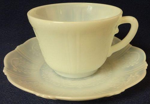 American Sweetheart Monax Cup & Saucer Mac Beth Evans Glass Company