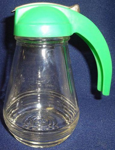 "No Drip Crystal Syrup Green Lid 5.5"""