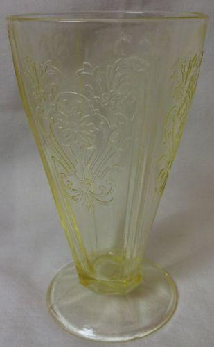 "Primo Yellow Tumbler 5.75"" 9 oz U S Glass Company"