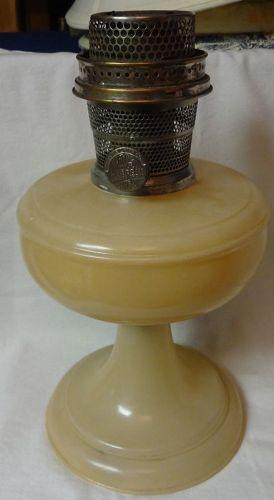 Venetian Peach Oil Lamp Aladdin Mantle Lamp Company