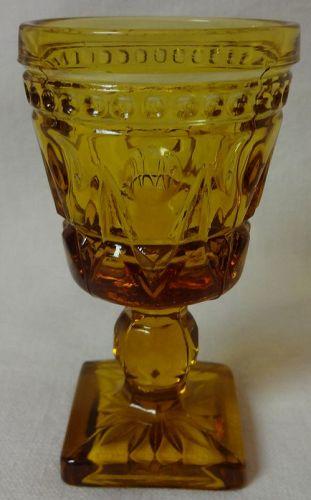 "Cape Cod Amber Cordial 3.5"" 1.5 oz Imperial Glass Company"