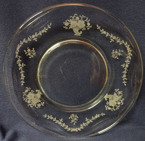 "Mayflower Crystal Plate 7.5"" Fostoria Glass Company"